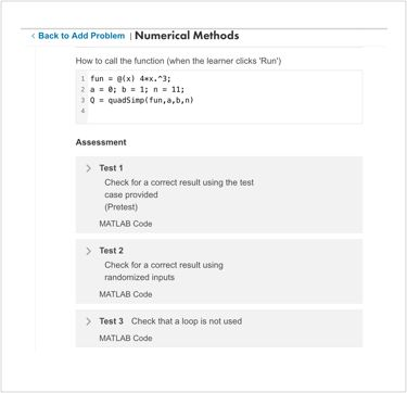 Numerical Methods Assessment Content