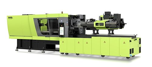 ENGEL molding machine with an injection unit with two synchronized drives for the injection movement