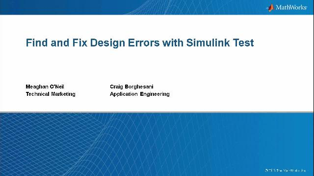 Learn how to use Simulink Test to systematically test your Simulink models