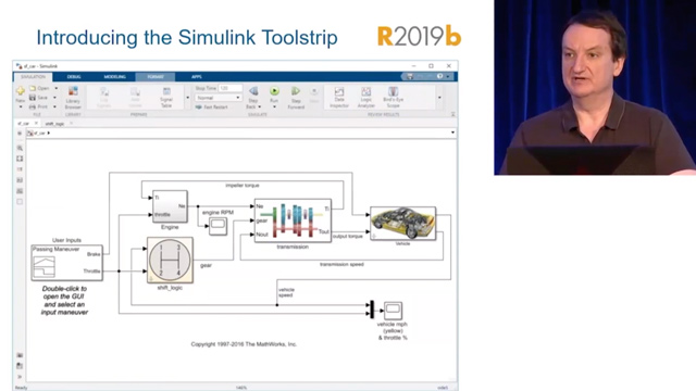 Steve Curtis from the Simulink® Design Automation Studio team introduces the Simulink Toolstrip, the new main menu system in Simulink to help you access and discover Simulink capabilities when you need them.