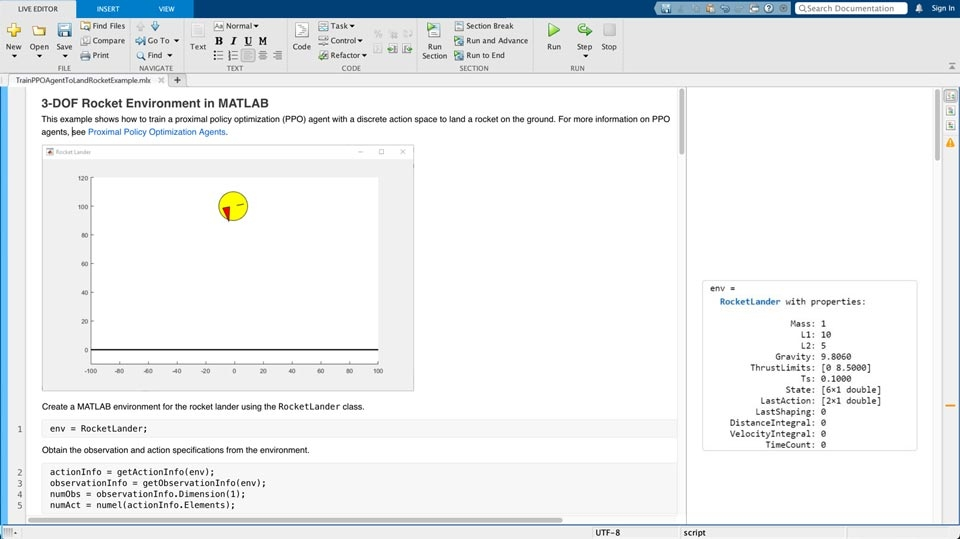 Predefined MATLAB environment for cart-pole system.
