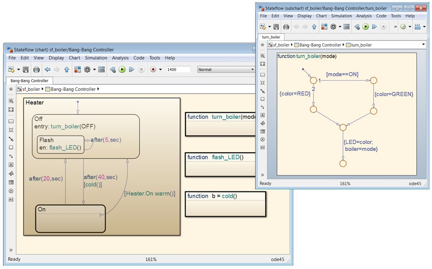 Design and Simulate Supervisory Logic