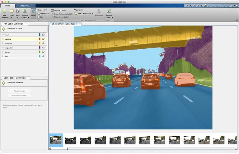 Using labeling apps for deep learning workflows like semantic segmentation.