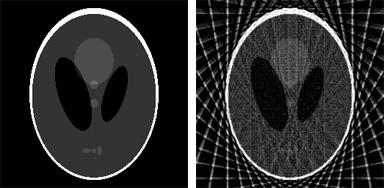 Radon reconstruction using the Shepp-Logan phantom image