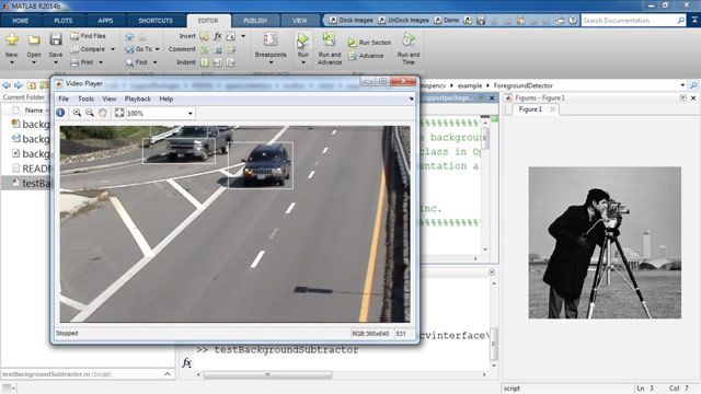 Run OpenCV Examples in MATLAB