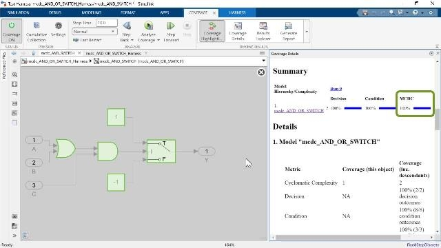 In this video, you will learn how to use Simulink Design Verifier to automatically generate test vectors to analyze missing model coverage collected by Simulink Coverage in order to comply with DO-178C and its supplements.