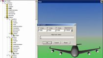 Animate the 3D motion of a 747 aircraft along a helical trajectory.