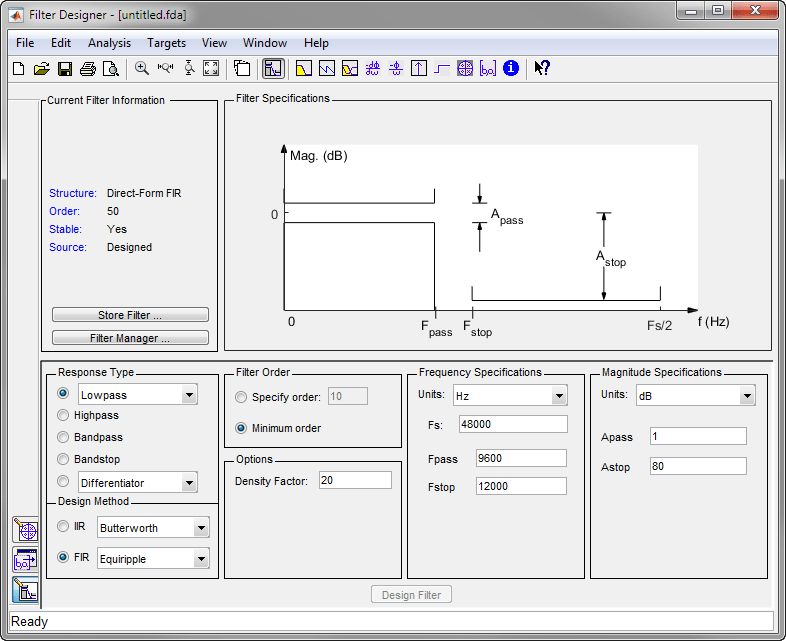 Introduction to Filter Designer - MATLAB & Simulink Example