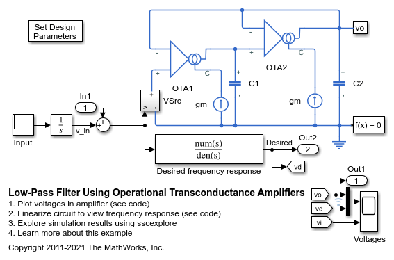 Low-Pass Filter Using Operational Transconductance
