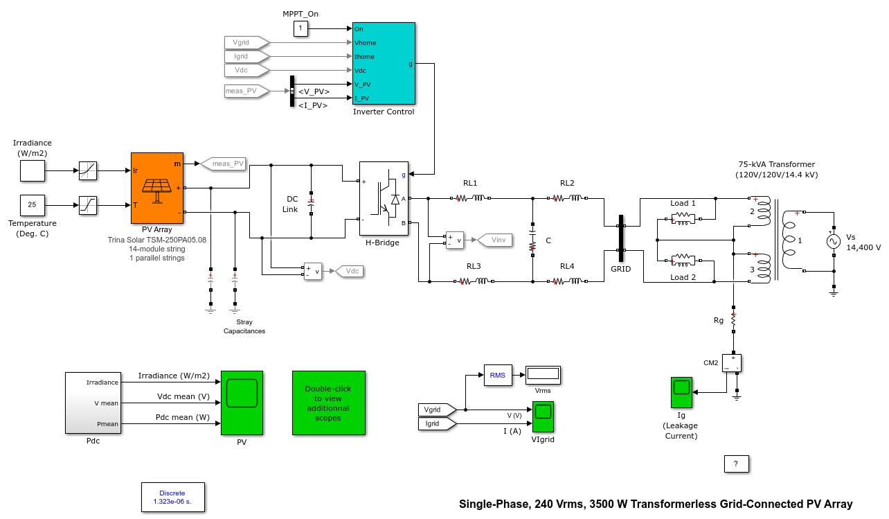 Single Phase 240 Vrms 3500 W Transformerless Grid