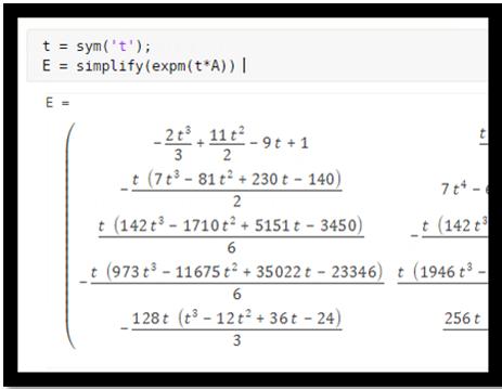 Symbolic Matrix Computation - MATLAB & Simulink Example