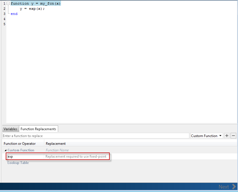 optimization - How to use a look up table in MATLAB