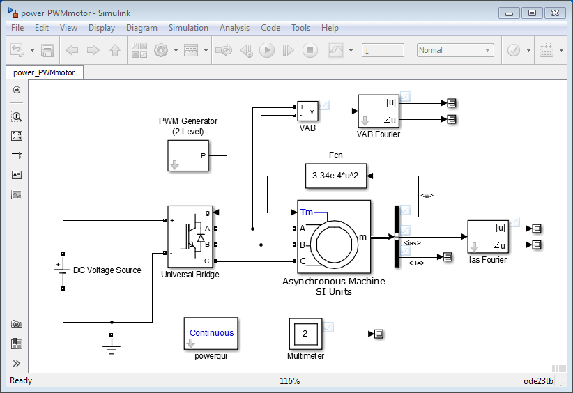 simulate variable speed motor control matlab \u0026 simulinkassembling and configuring the model