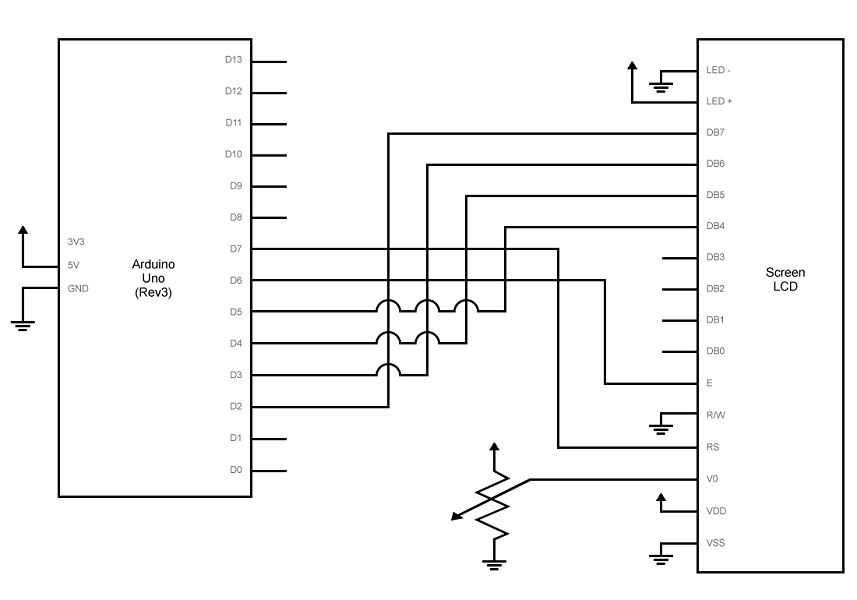 connect the lcd as shown in the schematic: