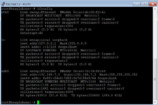 Get the IP Address of the BeagleBone Black Hardware - MATLAB