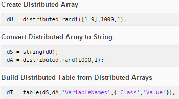 Support for New Data Types in Distributed Arrays