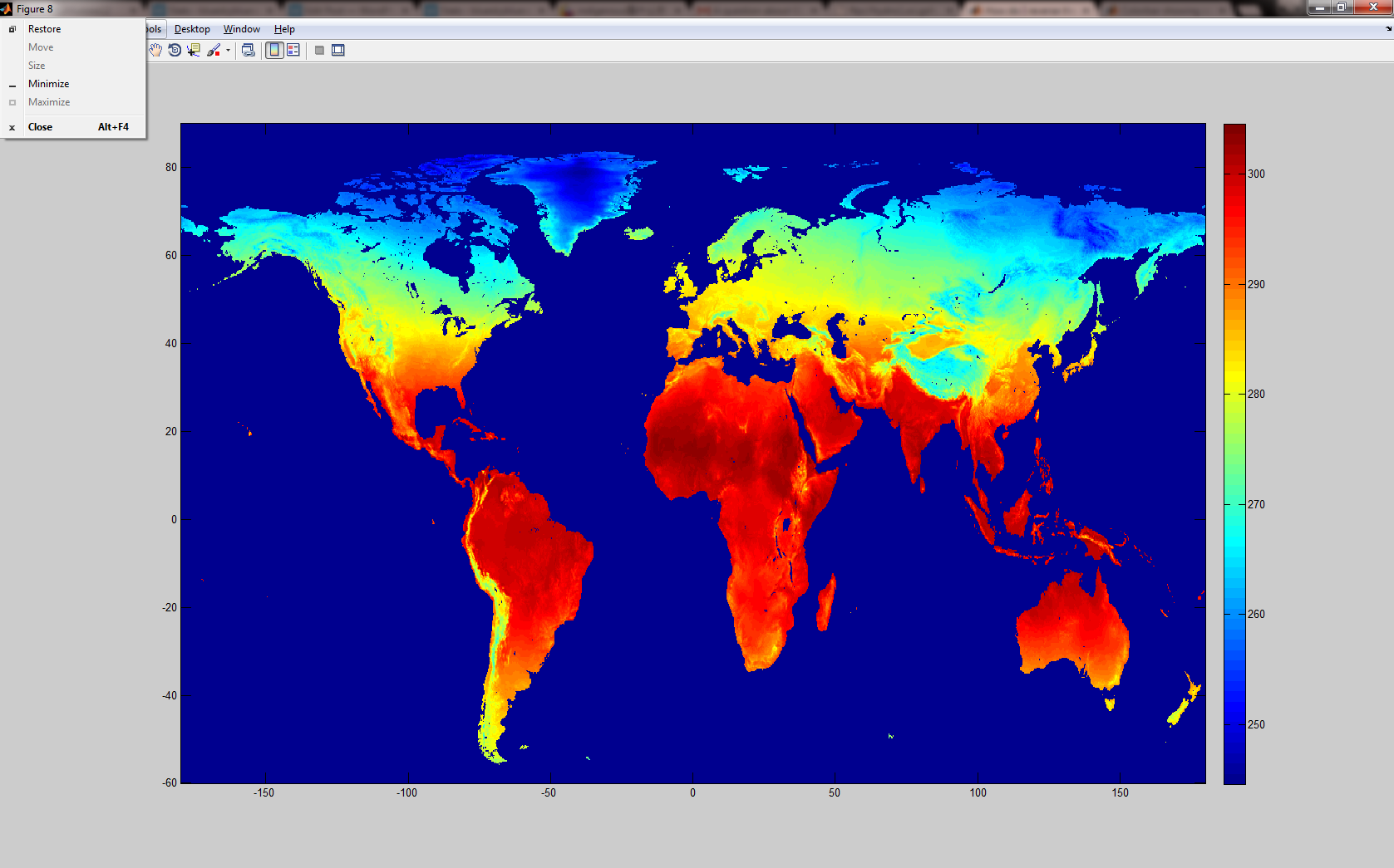 Pcolormpcolor cannot create world map correctly matlab answers h2 imagesclonlatstattai setgcaydirnormal colorbar gumiabroncs Choice Image