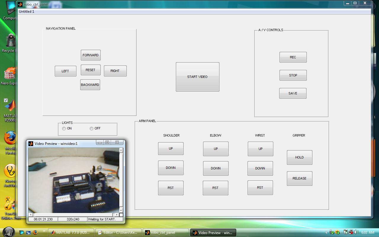 gui for controlling robot - file exchange - matlab central