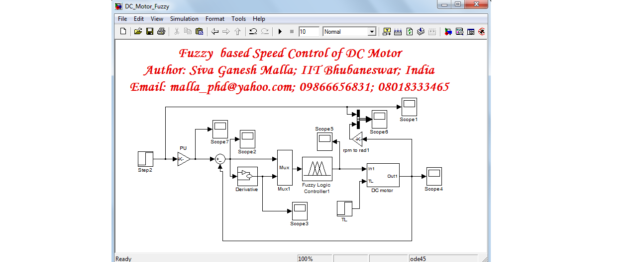 Fuzzy controller based Speed Control of DC Motor - File Exchange
