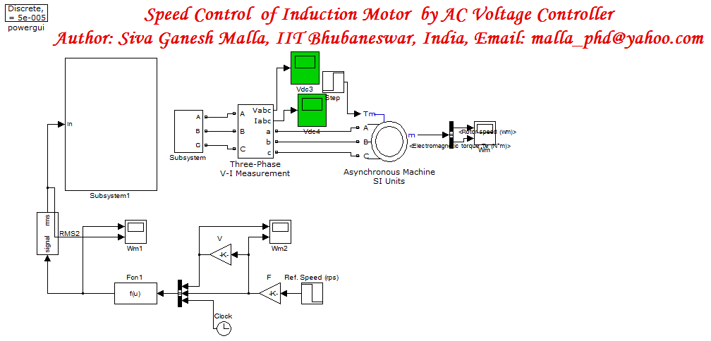 Matlab Code For Single Phase Induction Motor