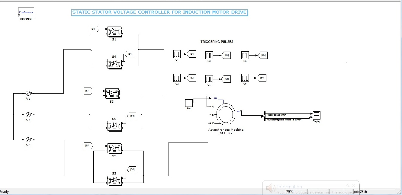 Stator Voltage Control Of Three Phase Induction Motor Fed