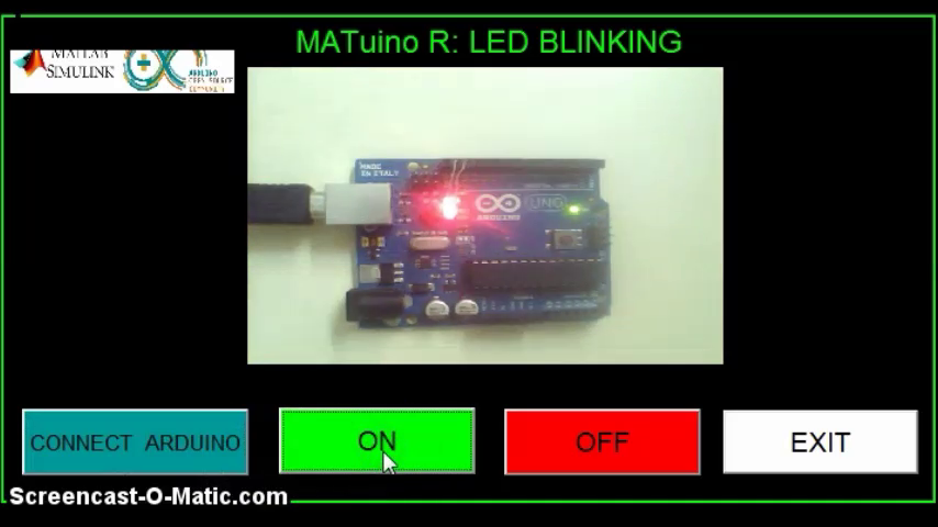 Matlab gui for arduino led blinking file exchange
