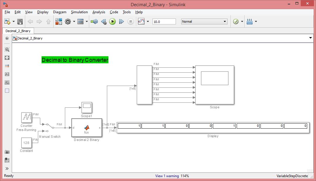 Decimal to Binary converter (Configurable) - File Exchange