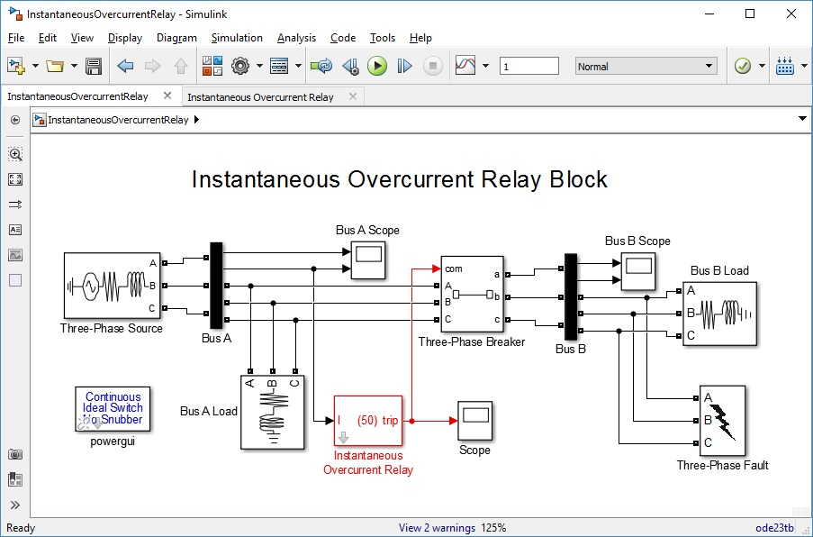 Instantaneous overcurrent relay file exchange matlab central image thumbnail ccuart Images