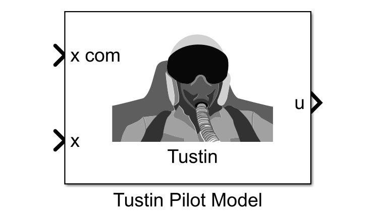 The Tustin Pilot Model block showing two inputs and a single output.