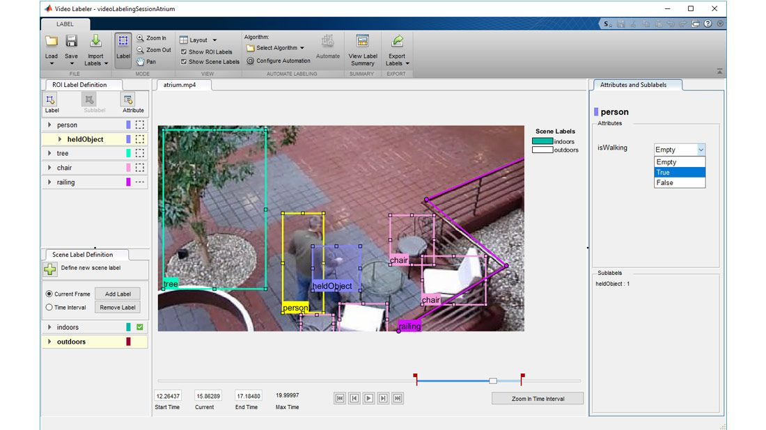 Graphical interface to label ground truth for object detection, semantic segmentation and object recognition.