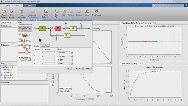 Design control systems with the Control System Designer app.