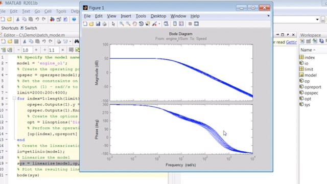 Create a script to do batch mode trimming and linearization of Simulink models.