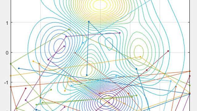 Showing five-move path per particle