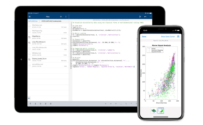 MATLAB Mobile Connect to the Cloud