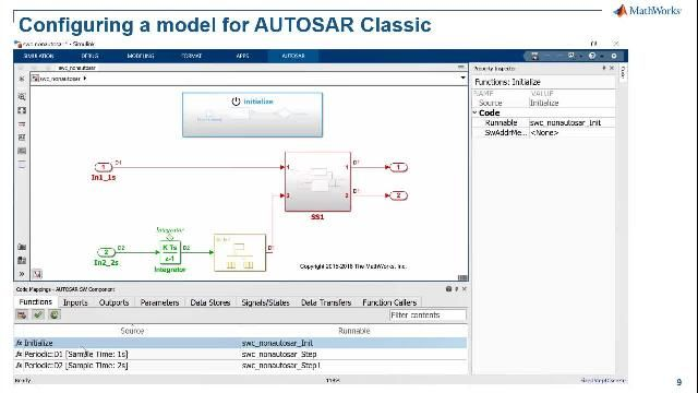 You can learn about Simulink Advance Support for AUTOSAR features modeling AUTOSAR Classic and Adaptive Software applications, Authoring AUTOSAR software architectures, Simulating AUTOSAR compositions and ECUs, and C/ C++ production code generation.