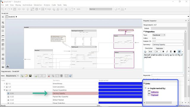 With Simulink Requirements, find requirements that have not been allocated to an architecture and see which architectural elements are potentially impacted by a change in a requirement.