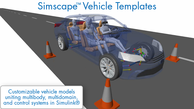 Learn how Simscape Vehicle Templates provide a customizable vehicle model that you can use for a wide range of vehicle design tasks.