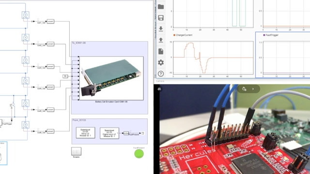 This video demonstrates how to use Simulink, Simscape, Simulink Real-Time, and Speedgoat real-time systems to perform hardware-in-the-loop (HIL) simulation to validate and test a battery management system.