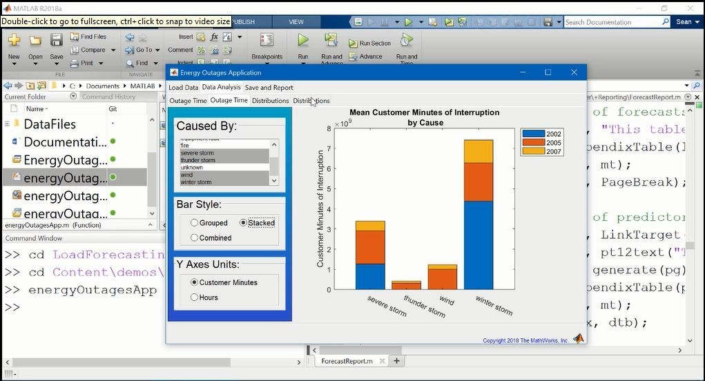 This video is an introduction to MATLAB Report Generator. The video first shows an example that uses automated report generation. The video also covers using MATLAB code to generate a report, and  how to report when working with templates.