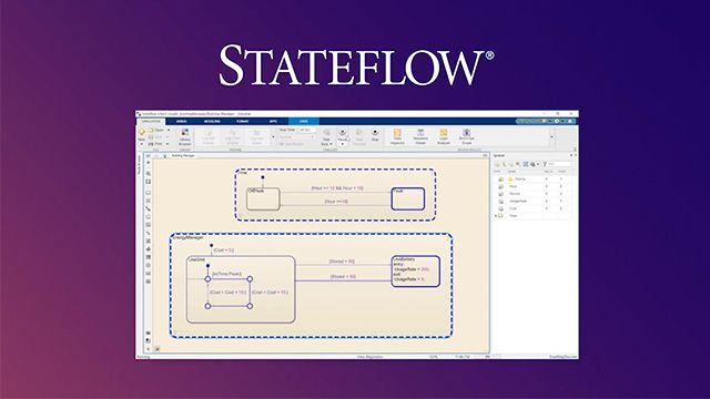 Discover the basics of using Stateflow by walking through an example. You'll also learn how Stateflow is just one part of Model-Based Design for modeling, simulating, testing, and implementing real-world systems.