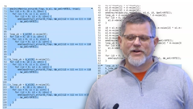 Watch how MathWorks coder products, such as MATLAB Coder and Embedded Coder share a common coder engine that is increasingly optimized for code patterns in computer vision and automated driving/ADAS applications.