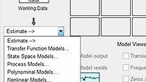 Estimate multiple models and validate against the validation data set.