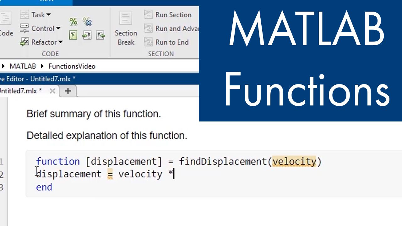 Learn how to create and use MATLAB Functions.