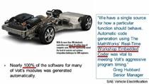 基于模型的设计理念在汽车控制系统设计方面得到了广泛的应用。本次研讨会将与大家共同探讨这一先进的设计理念在汽车控制系统的软件开发中的具体运用。主要内容包括控制模型的构建与模型构架,模型的测试与验证,代码生成技术,系统的集成等。详细介绍快速原型控制软件与产品控制软件的比较,产品控制器软件的开发思路与流程等。